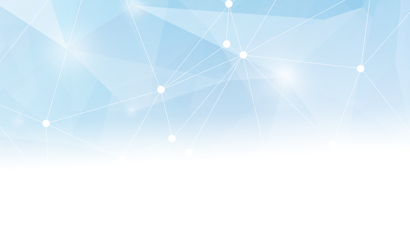 Network dots on clear blue background