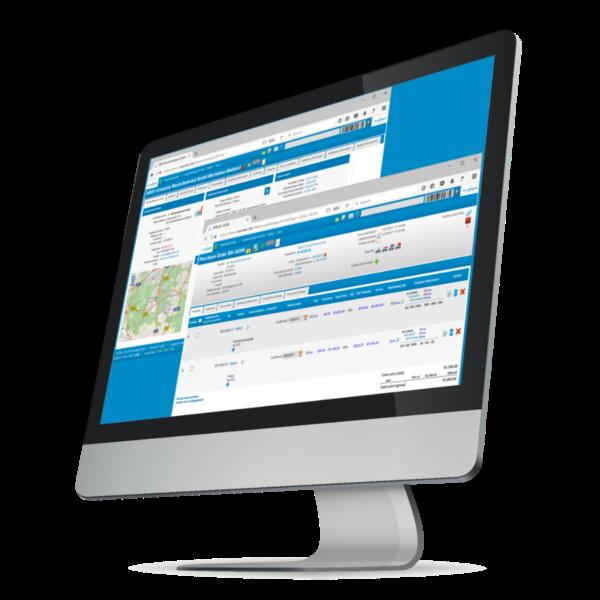 Transfact 客户关系管理 客户和销售订单界面