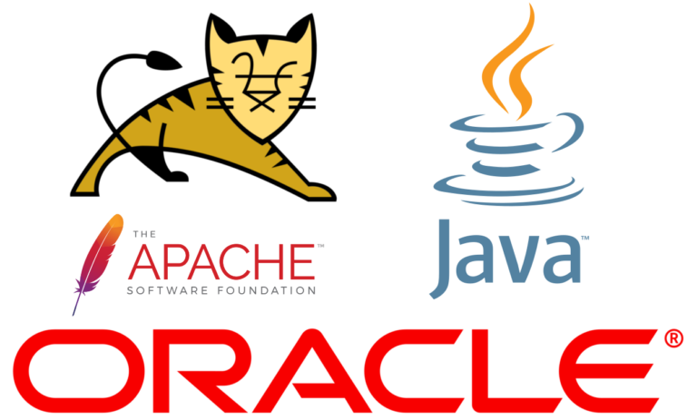 Oracle, Apache Tomcat and Java Logos
